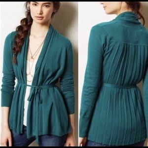 Angel of the North Anthro Pleated Belted Cardigan